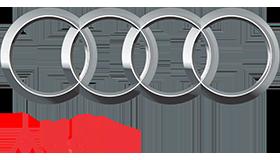 Audi のロゴ