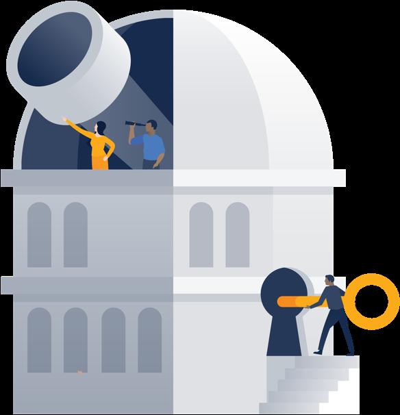 Ilustración de un observatorio
