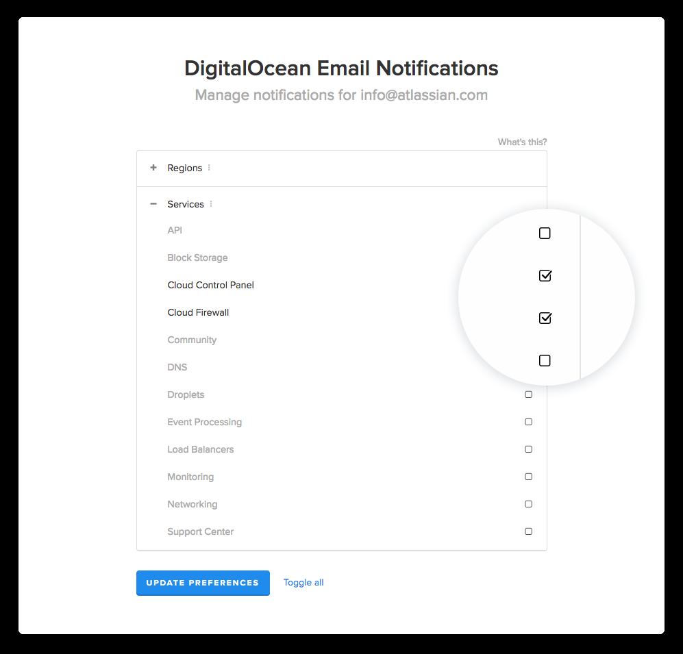 Captura de tela de configurações de notificação