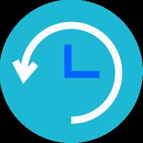 clock running backward