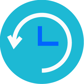 a clock turning backwards