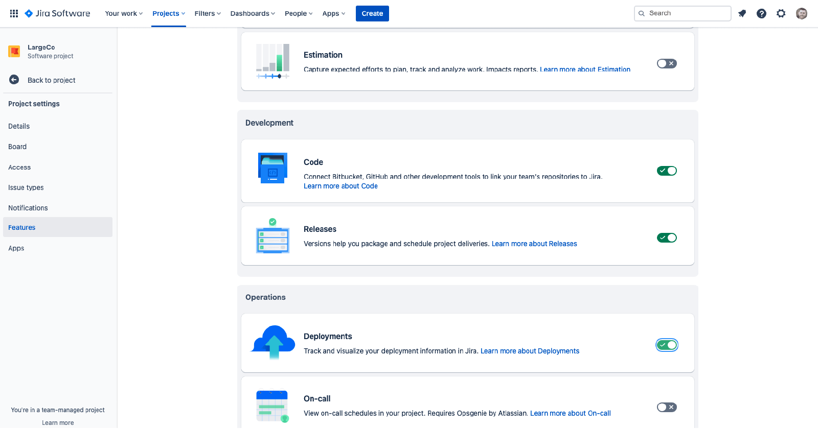 Jira Software Projects