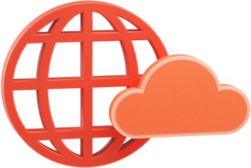 Globe with cloud icon