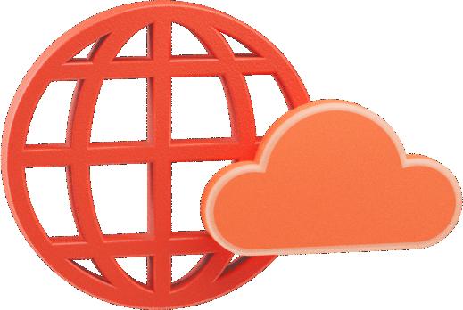 Ícone de globo com nuvem