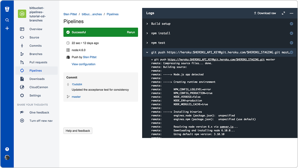 Bitbucket Pipelines keeps secured variables masked in the logs