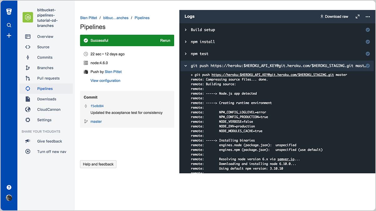 Bitbucket Pipelines enmascara las variables en los registros para aumentar la seguridad
