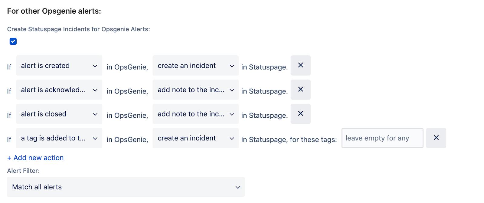 Statuspage から作成されたアラート