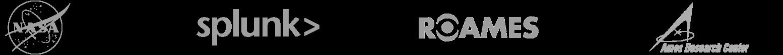 NASA、Splunk のロゴ