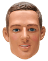 Jay Simons con testa dondolante