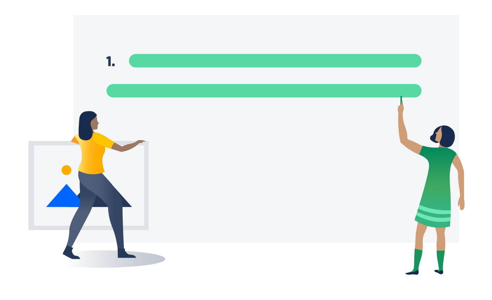 第 3 步:收集插图、图形和屏幕截图