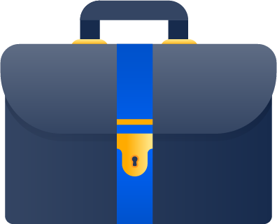 Aktatáskát ábrázoló ikon