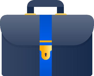 Symbol einer Aktentasche