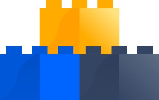 Építőkockákat ábrázoló ikon