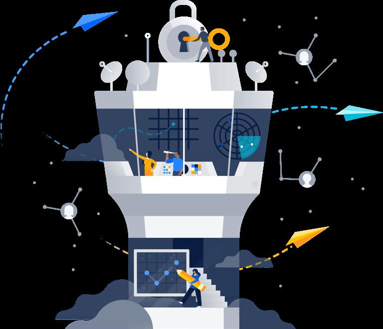 Control tower illustration