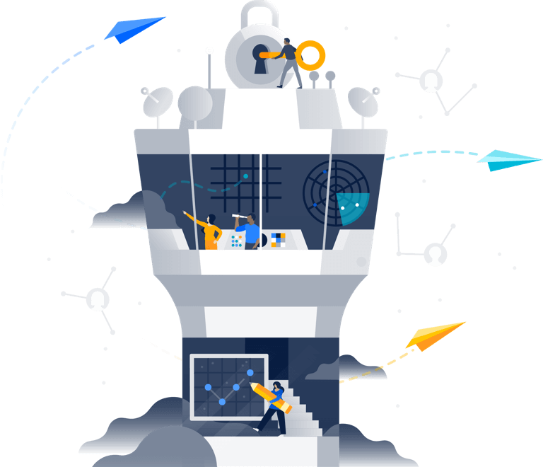 Control tower illustration