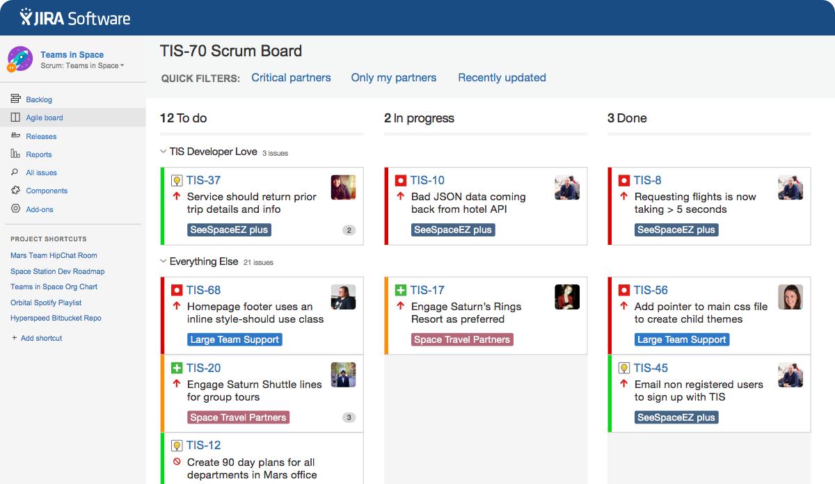 JIRA Software Kanban board Screenshot