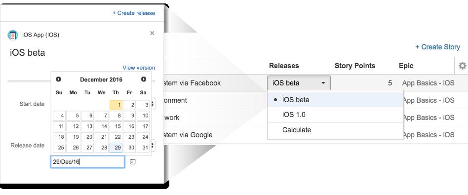 Festlegen von Daten in Portfolio for Jira