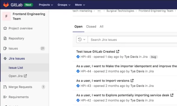View Jira issues directly in Gitlab
