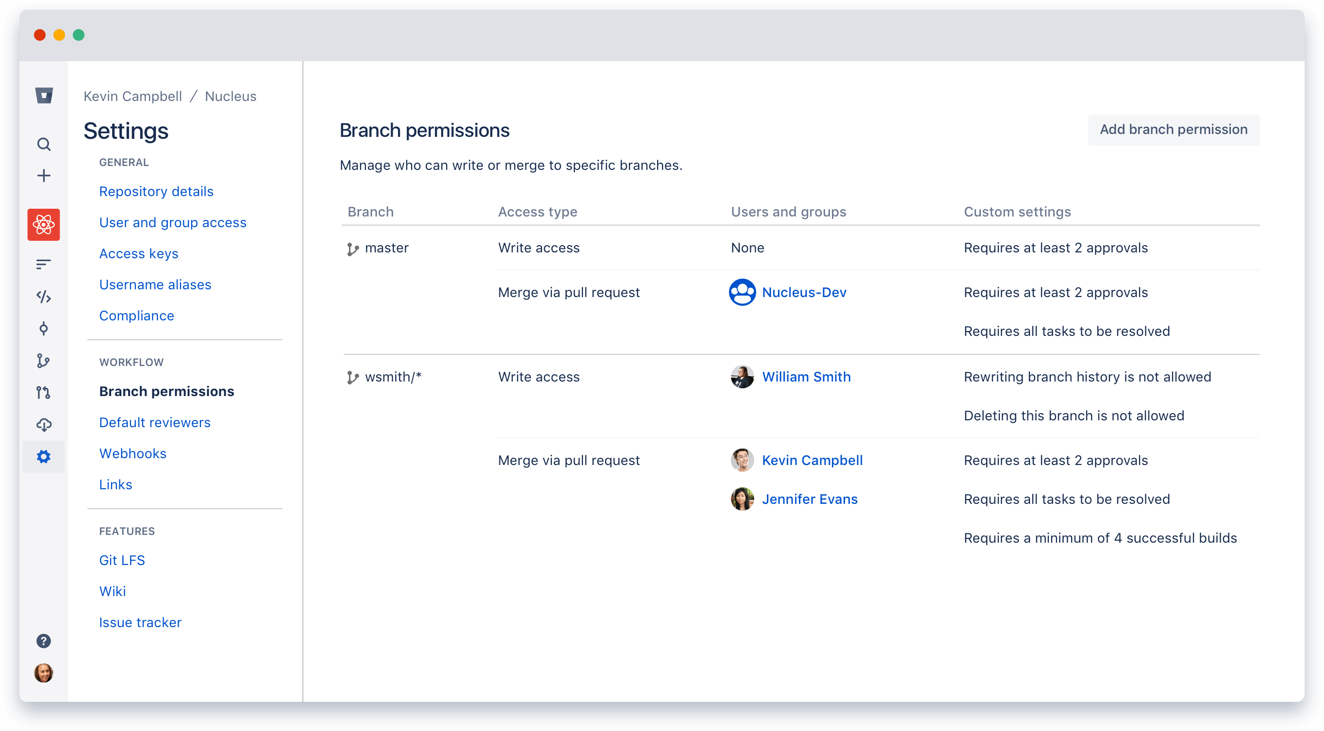 how to connect to an existing branch in git