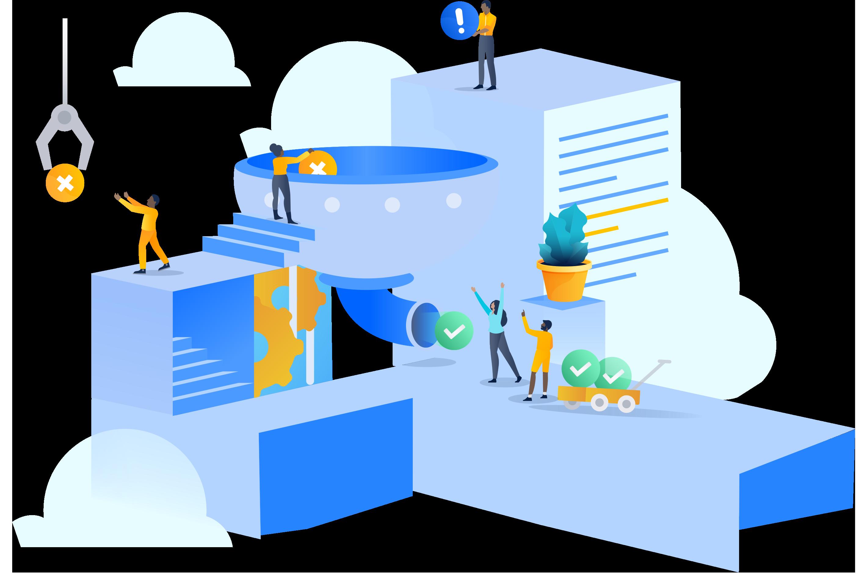 Ilustración de la ciudad de Data Center