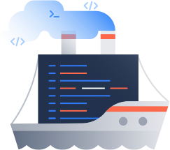 Ship code illustration