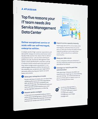 Jira Service Management DC borítókép