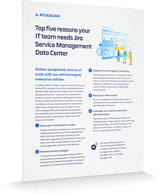 Jira Service Management one pager