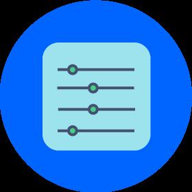Hoja de papel con un círculo azul como fondo