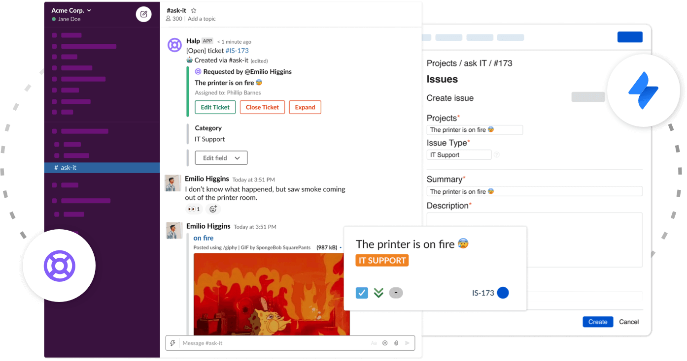 Supercharge your service management by integrating Jira Service Desk and Slack with Halp
