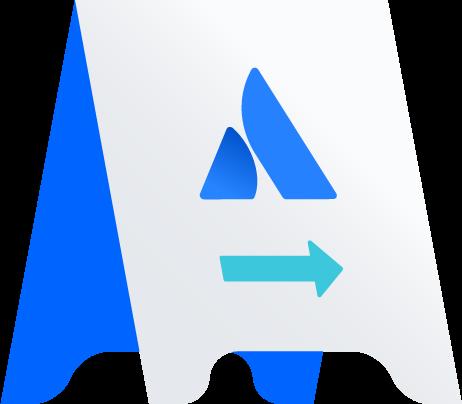 Atlassian A-frame illustration