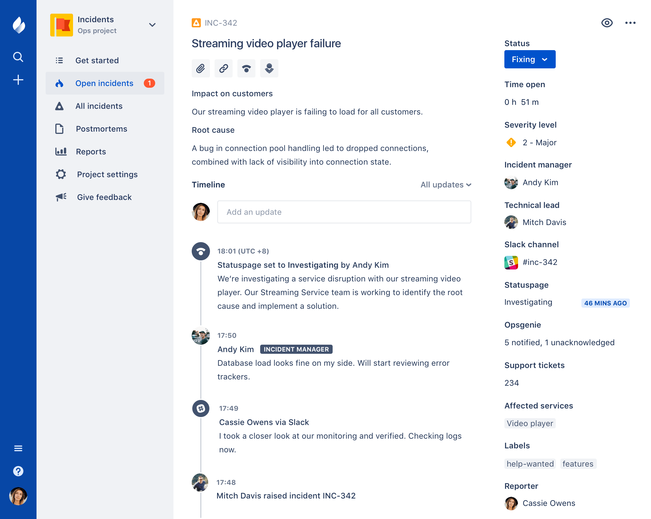 Jira Ops Incident Report