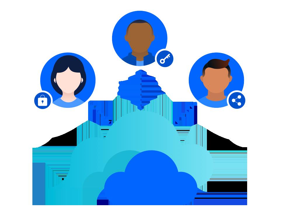 Stage migration private cloud illustration