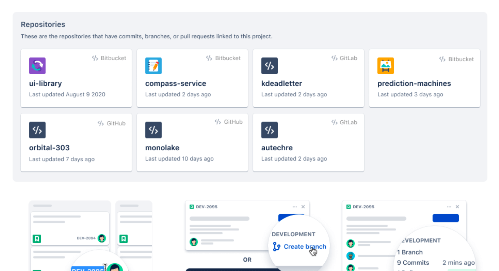 Repositories in Jira Software