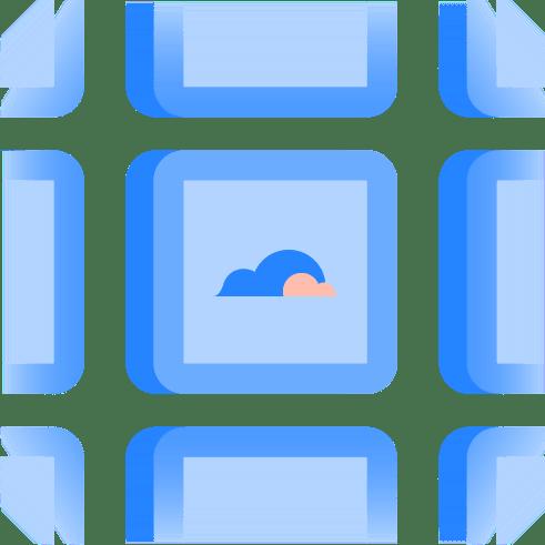 Kacheln mit Wolken