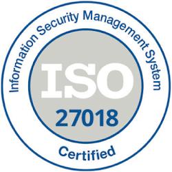 Логотип сертификации системы управления информационной безопасностью