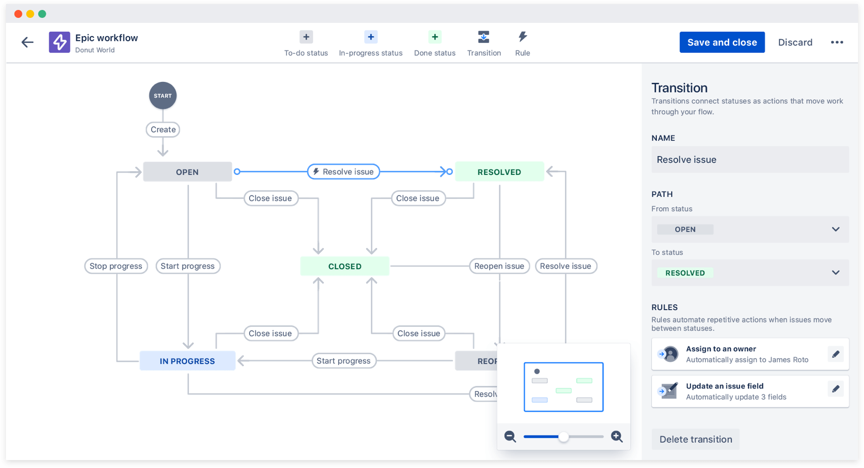 The workflow editor