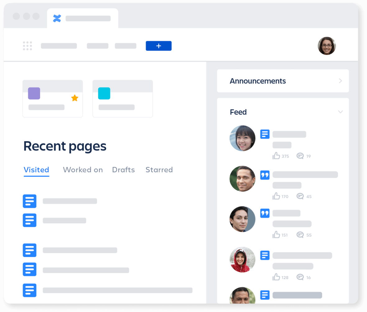 Personal Homepage with Confluence and Jira Service Management Integration