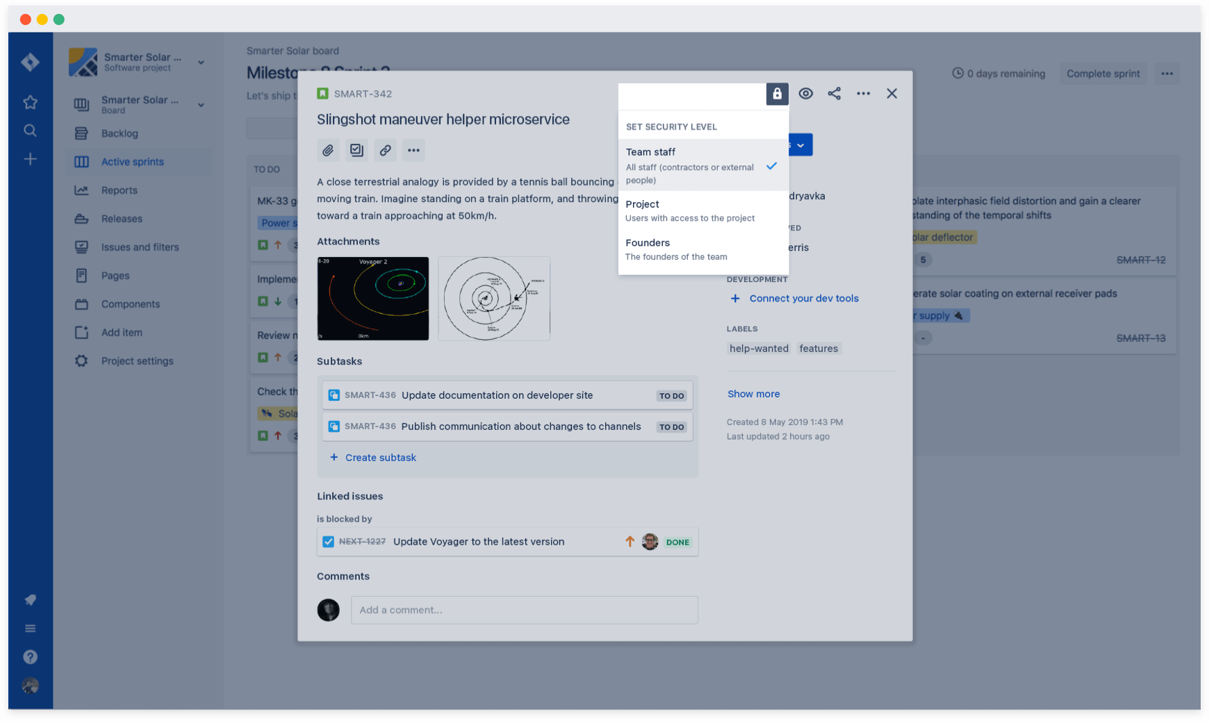 Creating unique security levels on Jira's new issue view