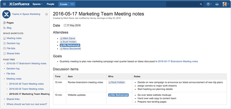 team-documentation-confluence-screenshot-meeting-notes