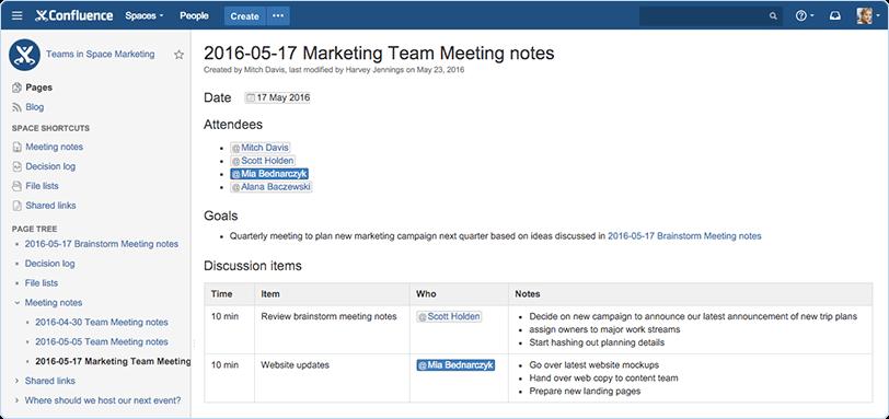team-documentation-confluence-screenshot-meeting-notes