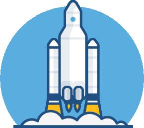 Startujący statek kosmiczny
