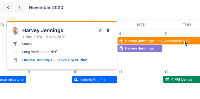 Compartilhe calendários e planeje com antecedência