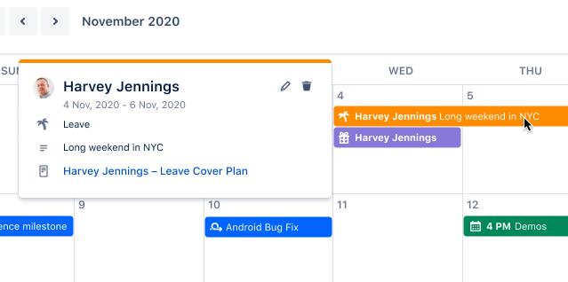 Condividi calendari e piani in anticipo