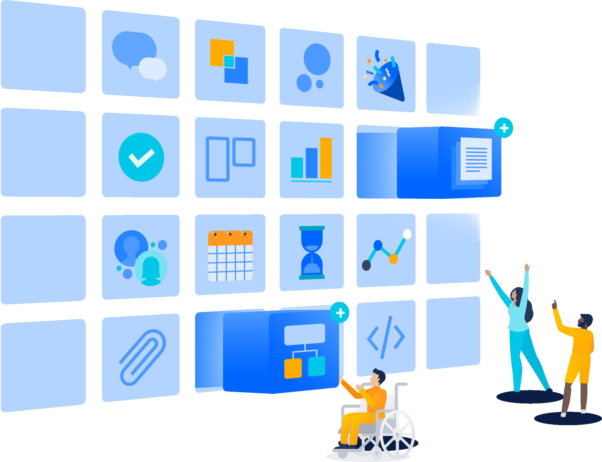 Ilustração de aplicativos