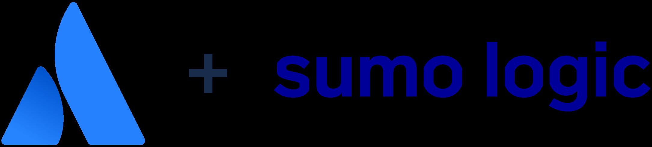 Atlassian 徽标 + Sumo Logic 徽标