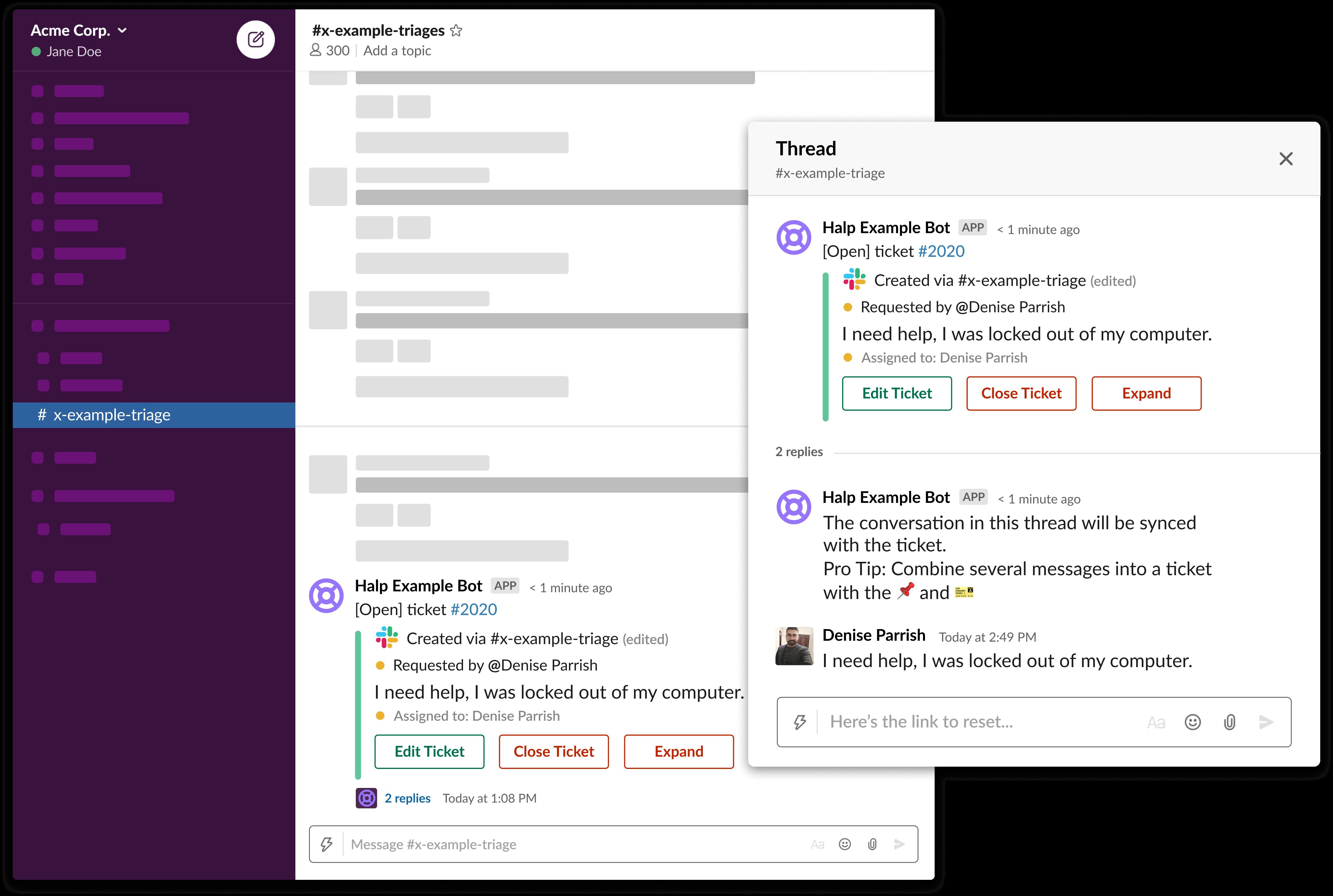 Halp — zrzut ekranu