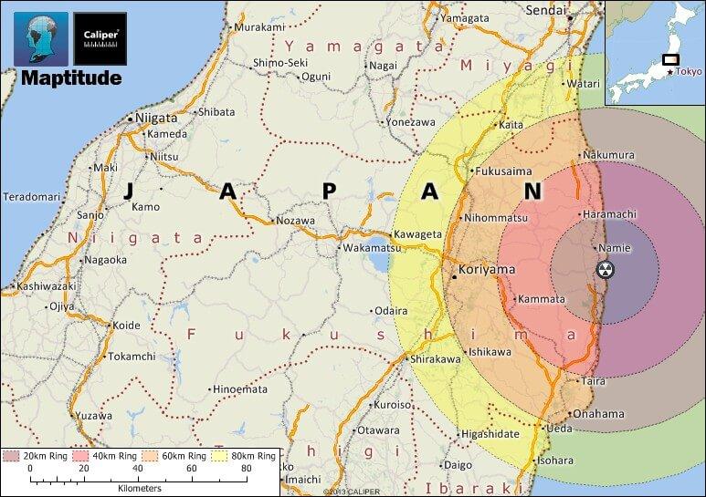 Fukushima map