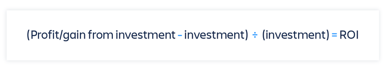 Calculating return on investment