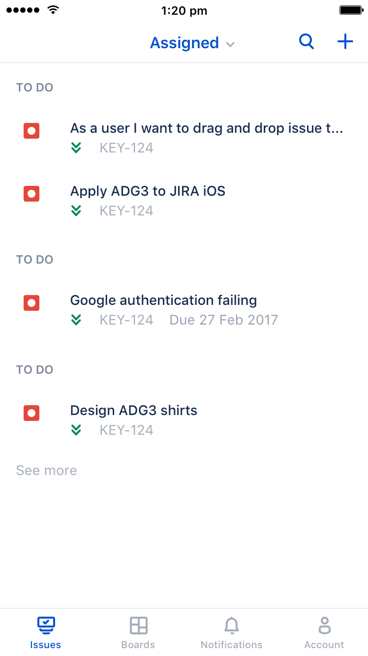 JIRA Software for iOS - Search issues