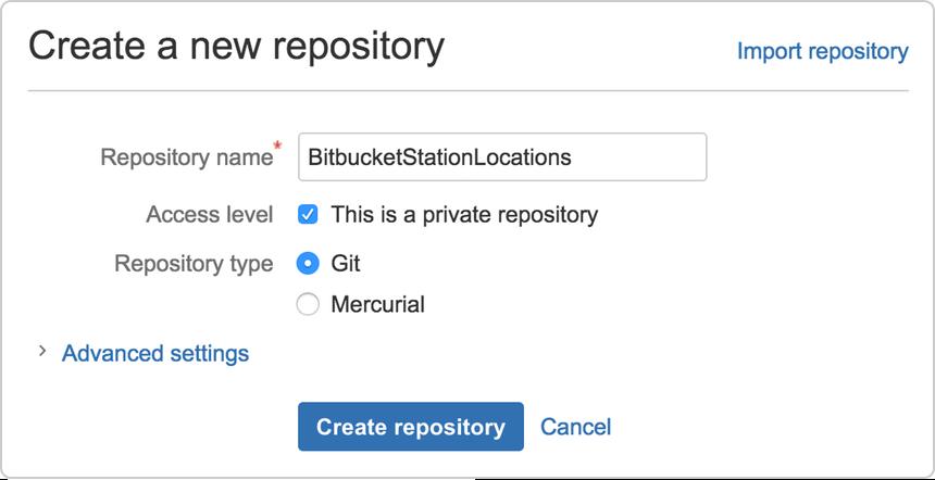 Create the repository